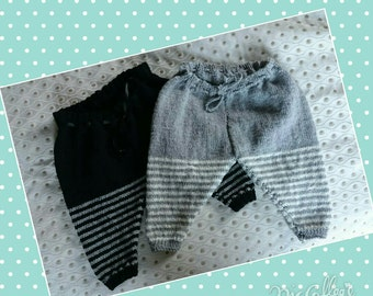 Striped Baby Thermal Leggings