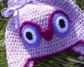 Crochet hat owl,crochet girls hat,Crochet earflap hat,knitted hat children, crochet winter hat, knitted clothes girls