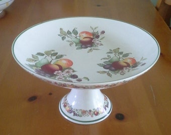 Cake Stand with Floral and Fruit Pattern