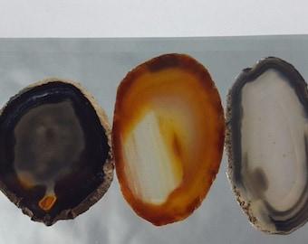 Natural Brazil Agate Slices Geode Polished Slab Quartz Lot (5) - N5