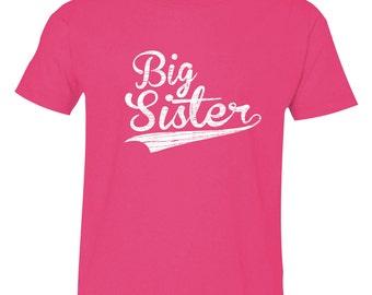 Big Sister Shirt, Big Sisters Baseball shirt, BIG Sister T-Shirt, Sibling Shirts, sizes from 1 to 20, BBSib