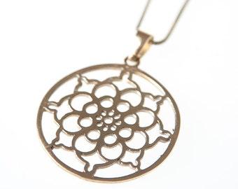 Brass Pendant, Brass Necklace, Tribal Brass Pendant, Tribal Necklace, Indian Jewellery, Gypsy Necklace, Boho Pendant, Brass Jewellery.