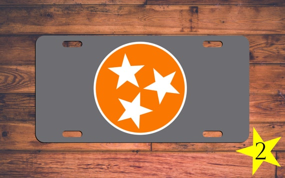 tennessee vols vanity license plate tn by themonogramstand on etsy