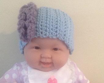 Ruffled Baby Headband Ear Warmer - Crocheted