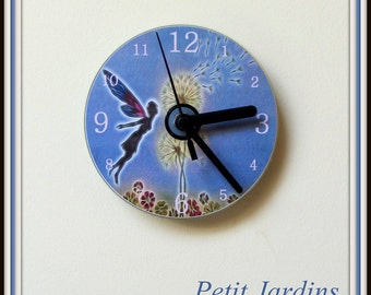 Fairy Wishes Clock, Wall or Desk Clock,  Ideal Gift for any Occasion .
