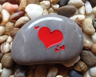Heart - Engraved Stone