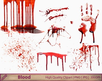 Blood clipart, horror clip art, halloween bloody stains, scrary graphics, scrapbooking, digital instant download, png jpg 300dpi