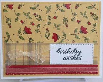Handmade Card, Birthday Card