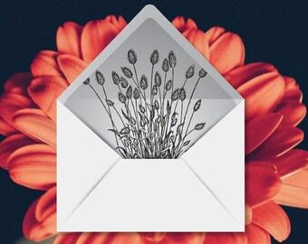 printable custom envelope liner template by tinyfreshdesign. Black Bedroom Furniture Sets. Home Design Ideas