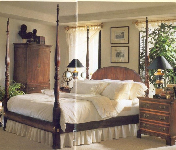 Items Similar To Magnificent King Size Henredon Aston Court Mahogany Rice Poster Bed Excellent