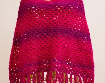 Ladies Crocheted Poncho