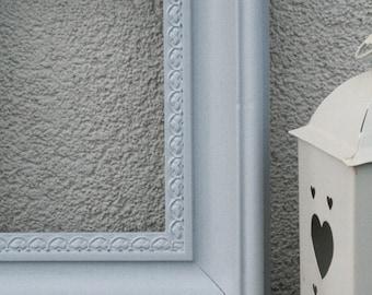 Light Grey Painted Frame, Shabby Chic, Wedding Frame, Photo Frame 18x15