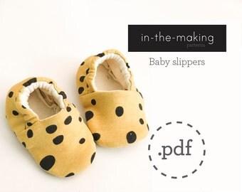 Baby slippers pattern PDF