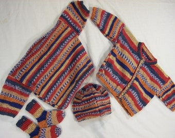Sweater, Cardigan, Cap, and Socks Baby 6 month