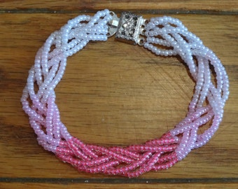 under the sea ombre braided bracelet