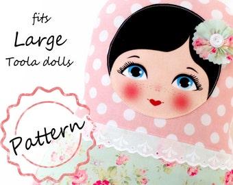 Printable Pattern PDF File, size Large, Toola Babushka Matryoshka Doll