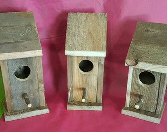 Reclaimed wood handmade birdhouse