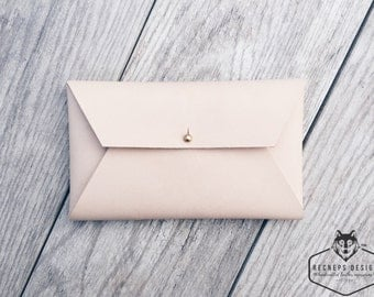 Leather envelope clutch, Leather envelope wallet, Leather envelope purse, Leather envelope pouch, Leather mail clutch, Leather envelope case