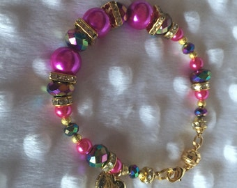 Colorful beaded bracelet