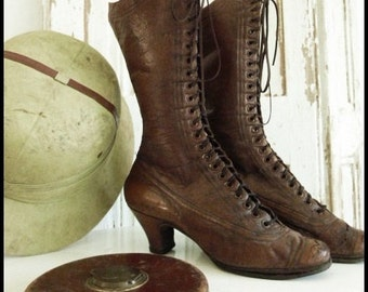 Victorian boots, Belgium, antique boots, 1900, JDL, Vintage by Nina style,....CHARMANT!