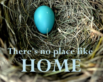 Robin's Egg in nest, Home quote