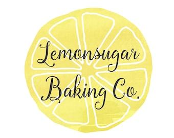 Premade Customizable Watercolor Logo - Lemon - Business Cards - Blog Marketing - Branding