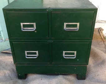Cole Steel 4 drawer cabinet with stand