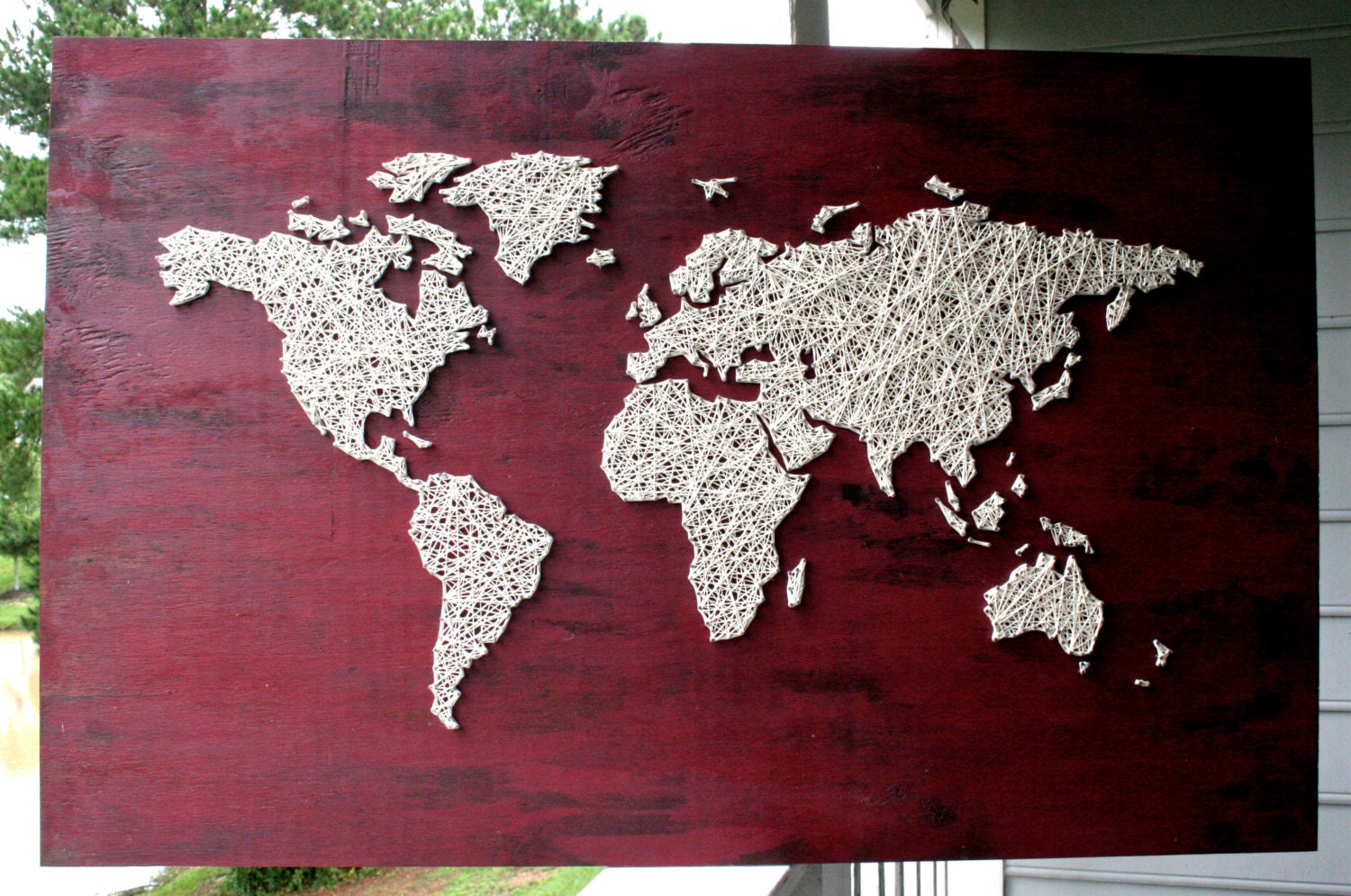 Uncategorized string map art englishsurvivalkit home design how to make a large scale world map string art hgtv pre drill holes sciox Gallery
