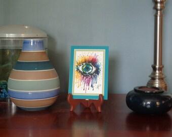 Crazy Eye - Original Watercolor