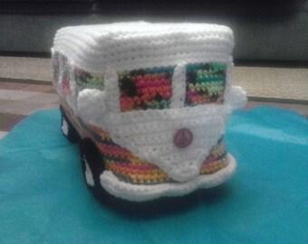 Handcrafted VW bus van. Hippie mobile