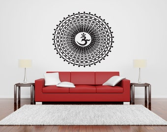 Sign_namaste_mandala on Wall Vinyl Decal Yoga Pose Buddha Spiritual By