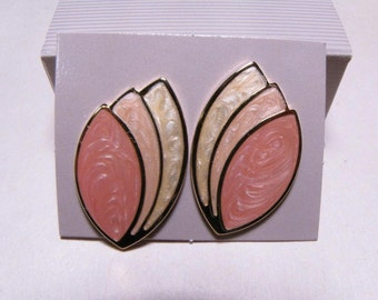 1990 Avon Summer Pastels Earrings NIB