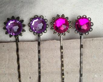 Pink Hair Pins, Decorative Hair pins, Pink Hair pins, lavender hair pins, pink and lavender hair pins, decorative hair pins, pink lavender