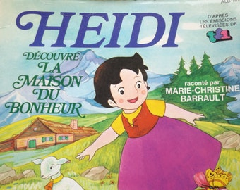 Heidi in 1981 CD-book / CD-book french vintage / child CD-Book / Collection Heidi