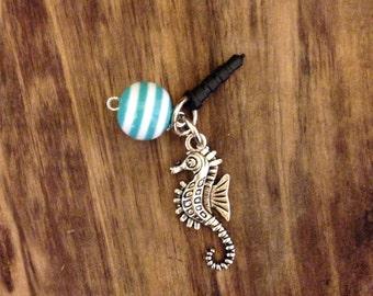 Seahorse Cell phone plug charm