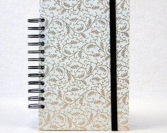 Journal Diary, Travel Journal, Not Your Basic Journal, Spiral Bound, Includes Three Custom Divider Pocket Pages