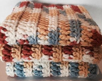 Cotton Dishcloths, Washcloths, Cotton Washcloths, Crocheted Dishcloths, Dishcloths, Crocheted Cotton Dishcloths, 100% Cotton Dishcloths