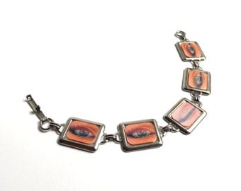 "1960's ""Pop Art"" Blinking Eye Picture ""Winkie"" Bracelet made by Vari-Vue"