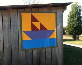"Boat Barn Quilt 36"" x 36"""