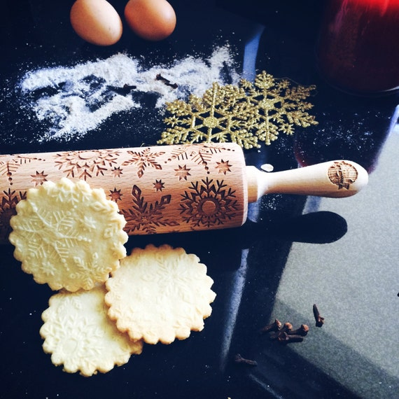 Snowflakes rolling pin