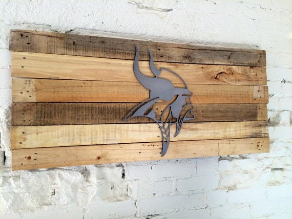 Man Cave Signs Vikings : Minnesota vikings sign man cave art metal mdf board cut out