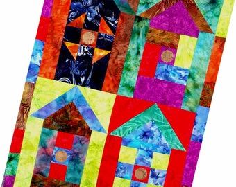 Colourful Birdhouses - pdf Pattern