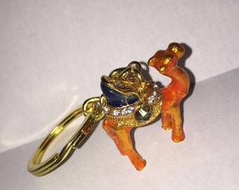 Adorable Rusty-Orange Camel on a Keychain
