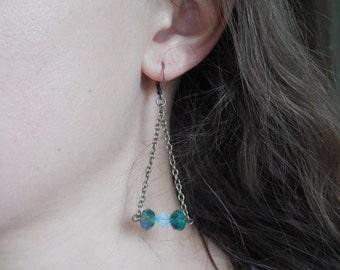 Chrystal Trapeze Earrings