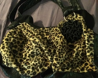 Leopard and black purse