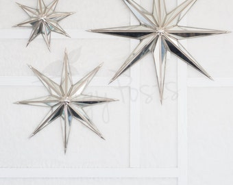 SALE!  Half off ~ Mirrored Stars on White Wall | Stock Images for Instagram