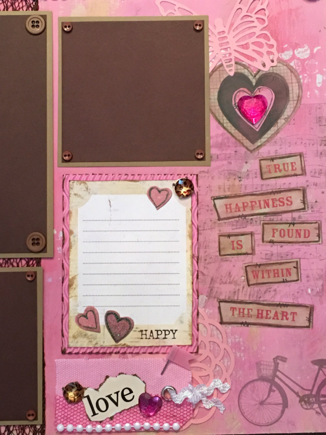 12 Quot X 12 Quot Premade Scrapbook Page Scrapbooking Pre Made