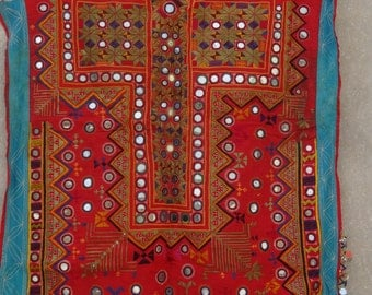 Vintage Mirror Work Dress From Indian and Sindh Tribes Textile Costumes Kurta 09