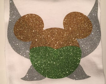 Tinker bell, tinker bell shirt, minnie tinker bell, disney shirt, disneyland shirt, fairy shirt