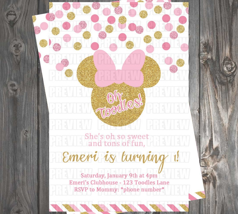 How To Create Minnie Mouse Invitations is best invitations ideas